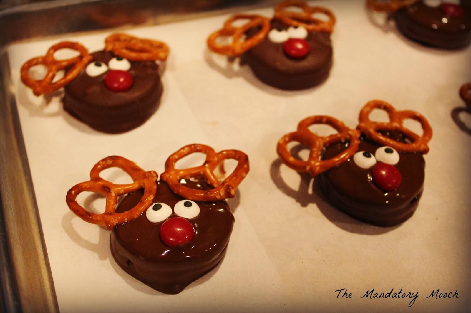 The Mandatory Mooch Dipped Oreo Reindeer Cookies