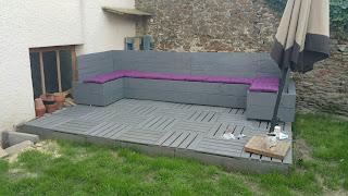 Tuto pour une terrasse en palettes plan te tutos - Deco jardin recup gratuit ...