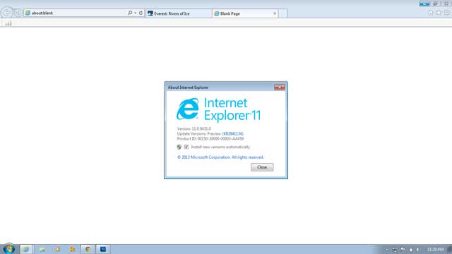 IE 11 for Windows 7