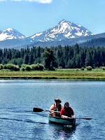 Ann Again and again Black Butte Ranch Canoeing