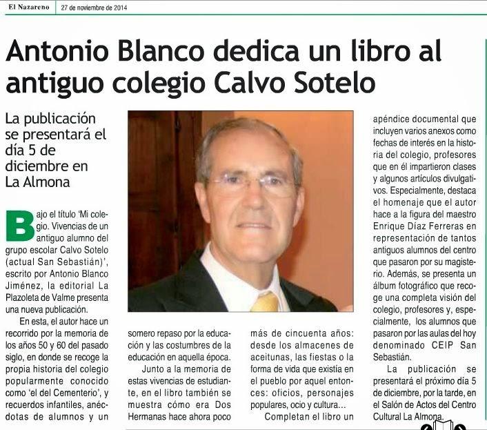 Presentación del libro Mi Colegio el 5 de Diciembre de 2014