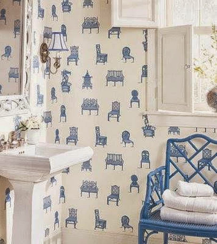 Celebrity homes amazing kids bathroom wall d cor ideas for Bathroom wallpaper designs