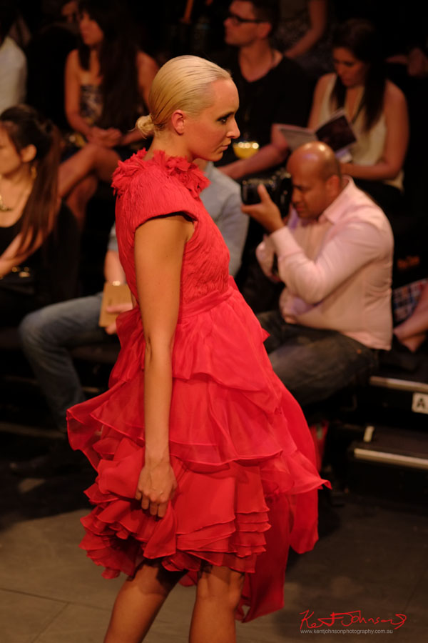 Red Dress, Raffles College 2012 Graduate Fashion Show Carriageworks, Everleigh Sydney