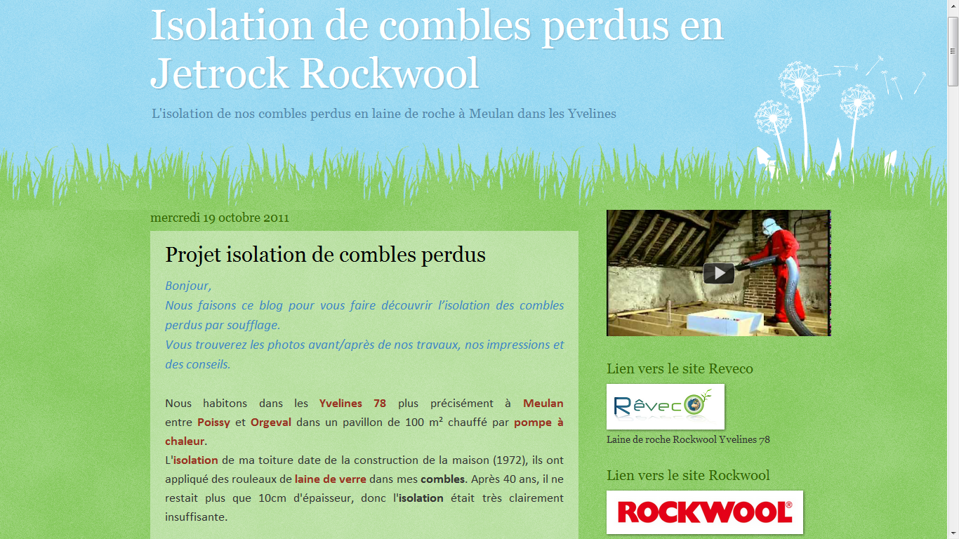 Les blogs client reveco isolation de combles en rockwool for Isolation des combles laine de roche