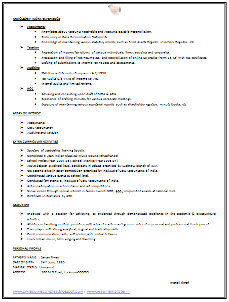 ... 10000 CV and Resume Samples with Free Download: Simple Resume Sample