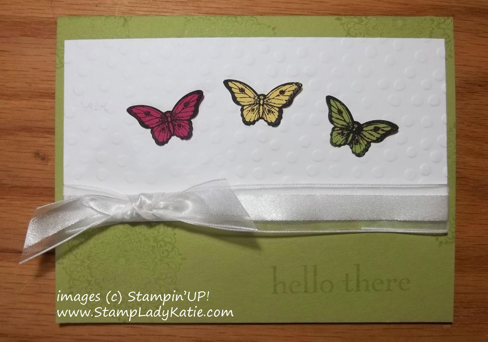 Butterfly Card made with Stampin'UP!'s Happy Day and Papillon Potpourri Stamps set and Bitty Butterfly Punch