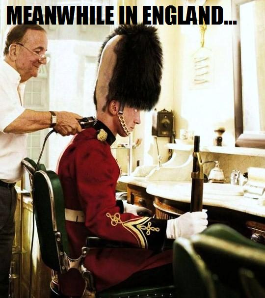 Funny british soldier haircut