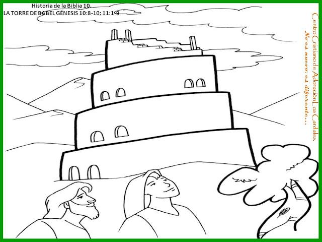 LA BIBLIA PARA COLOREAR LA TORRE DE BABEL - Imagui
