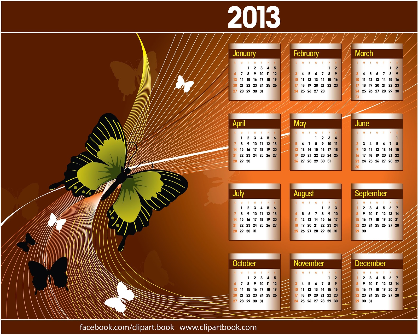 Art Calendar Book : Happy new year calendar designs free clipart book
