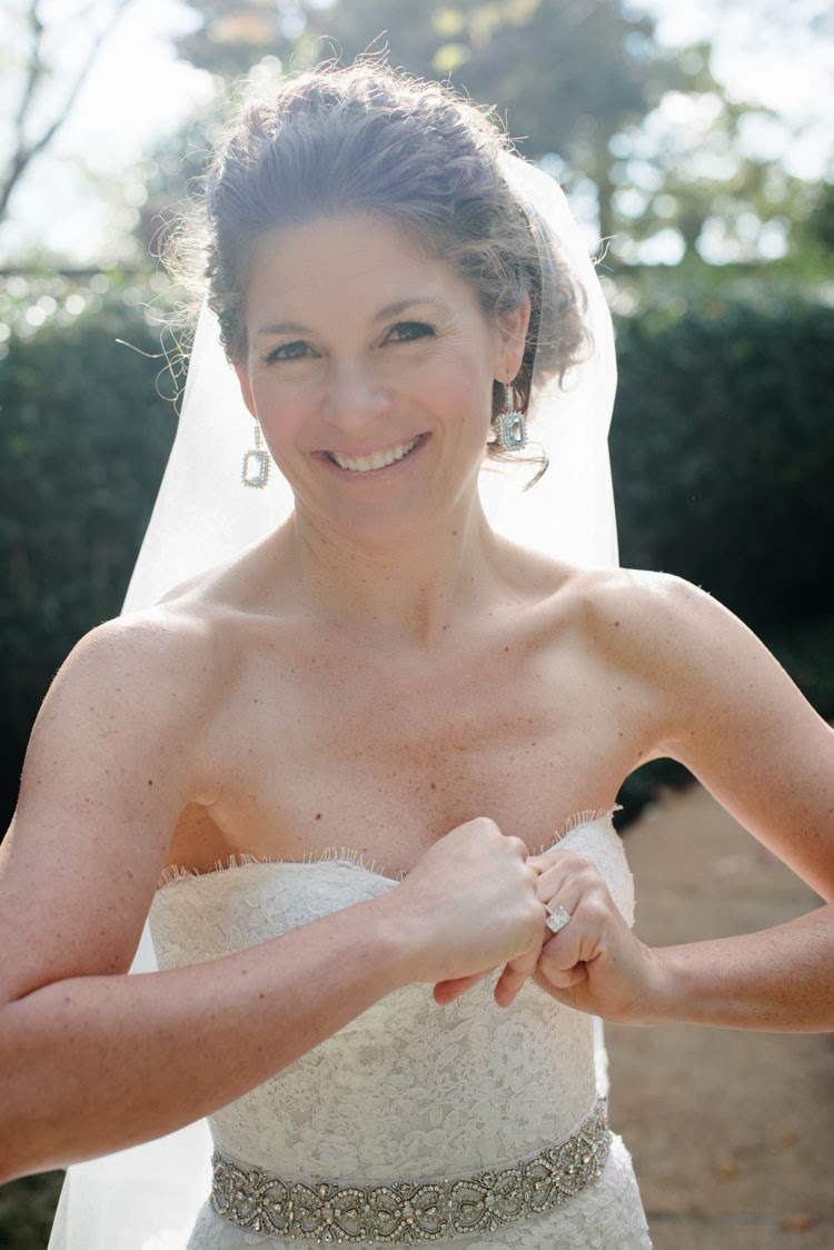 happiness glows through a bride with a big heart
