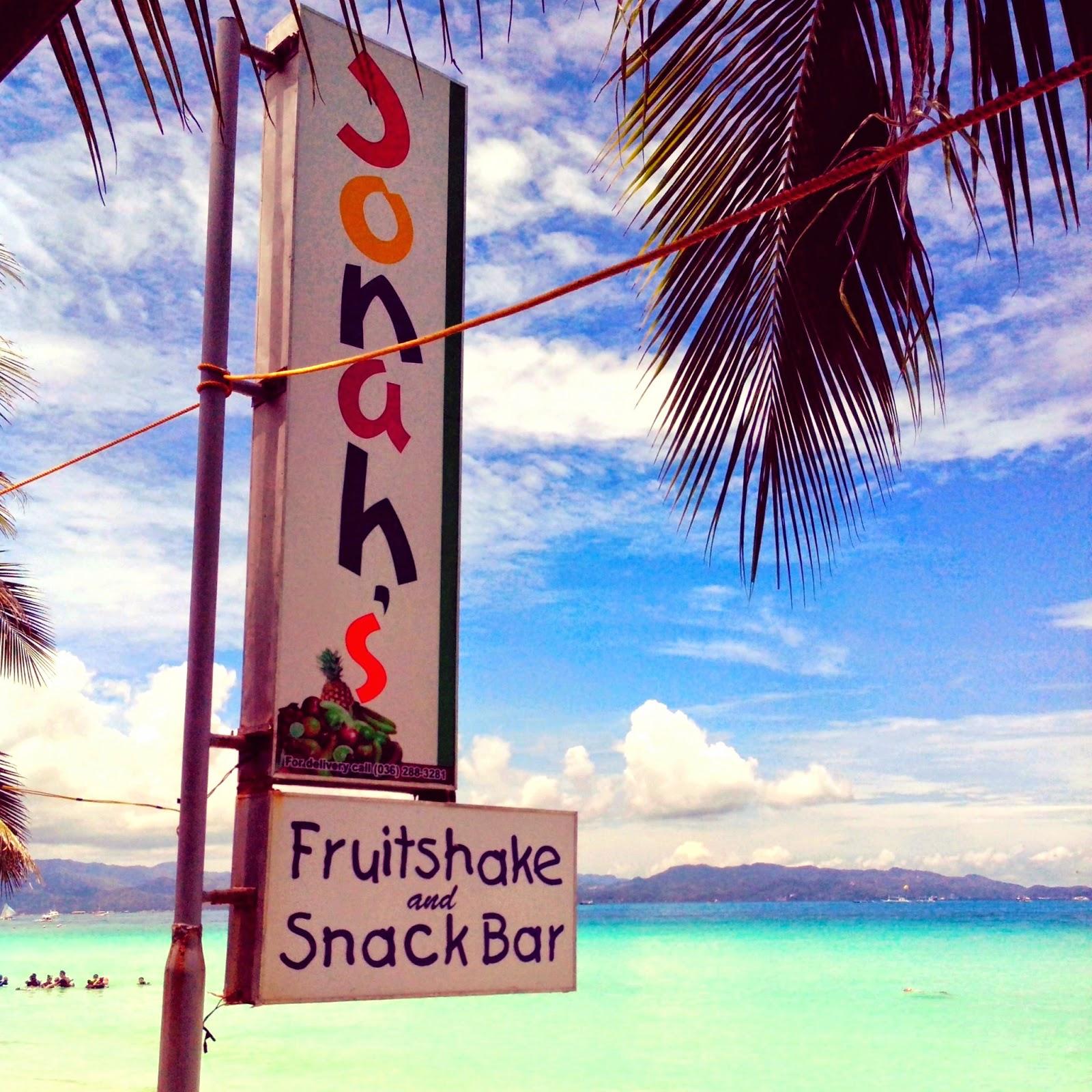jonah's fruitshake boracay