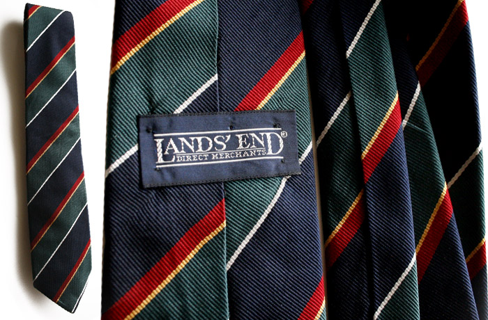 Lands End navy green