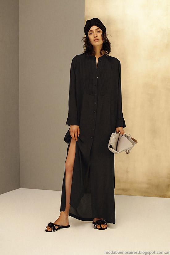 Vestidos camiseros largos verano 2016 moda mujer María Cher.