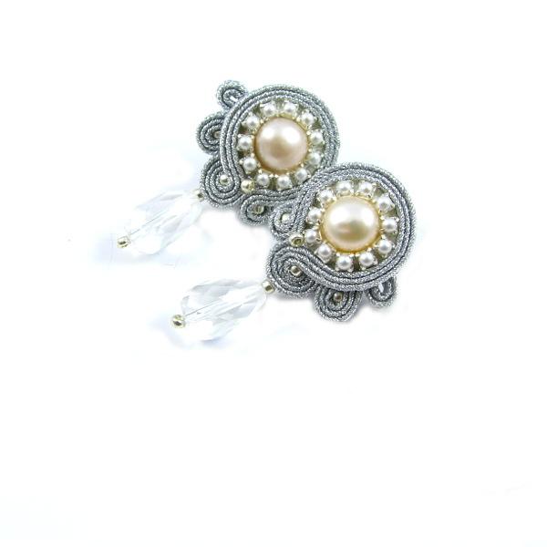 Misterne sztyfty ślubne sutasz z perłami