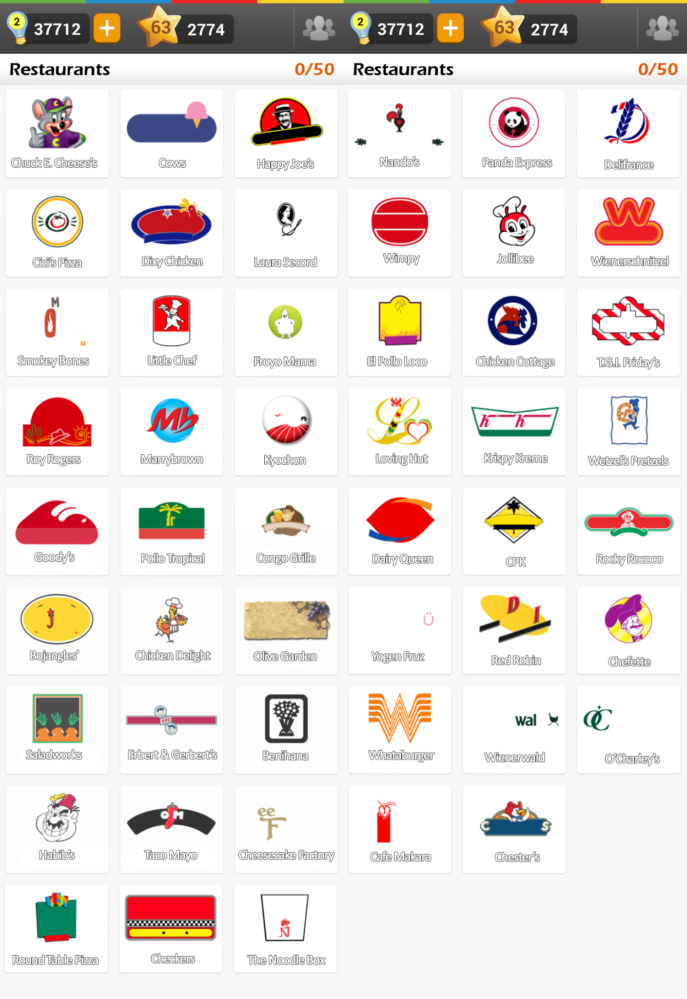 What Restaurant Logo Game Answers