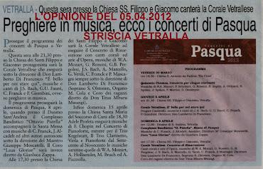 RASSEGNA STAMPA L'OPINIONE DEL 05.04.2012