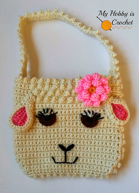 free crochet pattern sheep purse