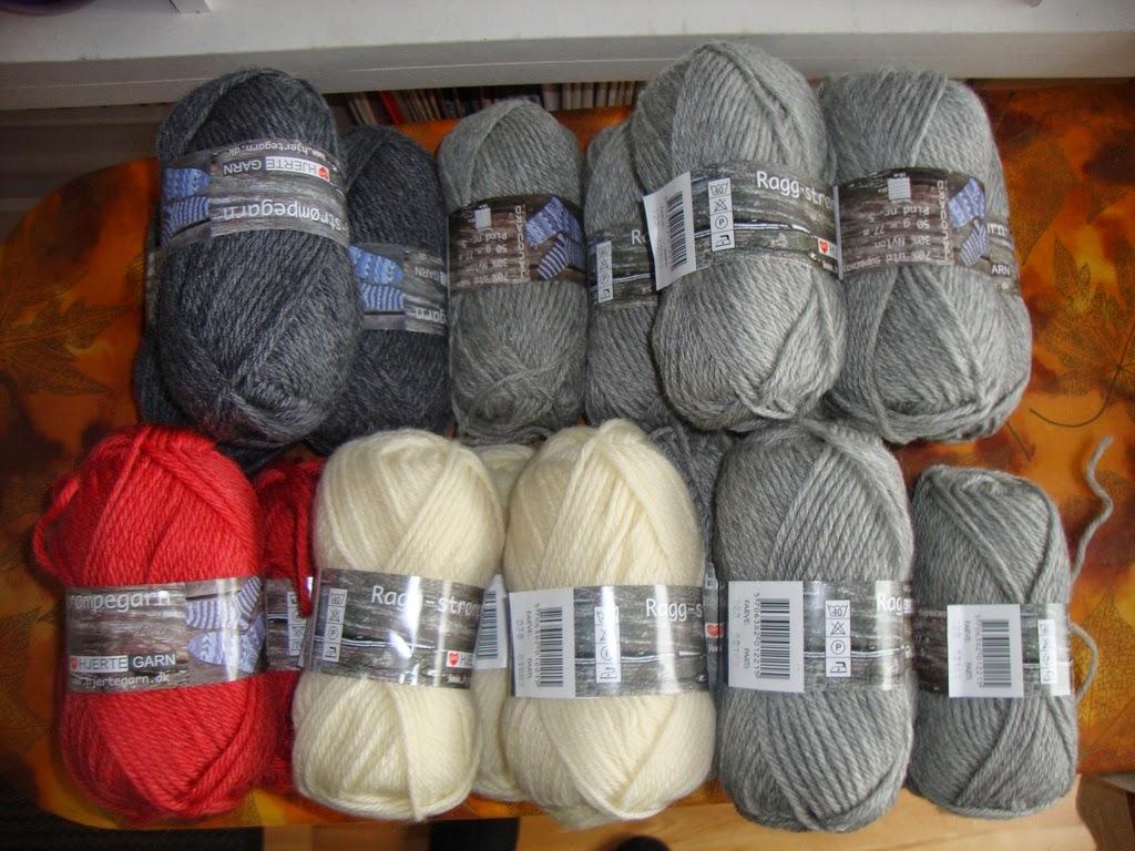 strikket trøje på tykke pinde