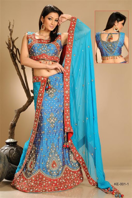 Embroidered bridal lehnga Design