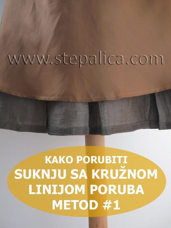 Šivenje Zlata suknje - #14 porubljivanje suknje, metod 1