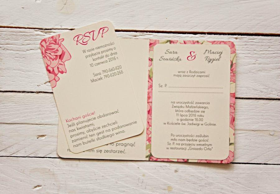 Niepowtarzalne zaproszenia ślubne w kwiaty