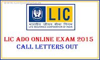 LIC ADO CALL LETTERS 2015