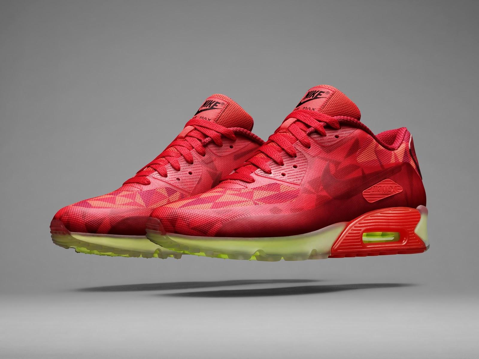 Nike Air Max 90 Créations De Glace Rouge