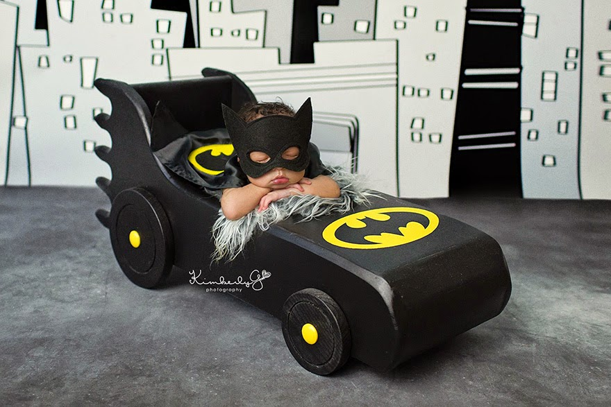 #14 Baby Batman - 22 Geeky Newborns Who Are Following In Their Parents' Nerdy Footsteps
