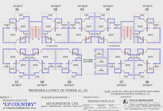 Up Country, Yamuna Expressway :: Floor Plans,Tower Plans :-TOWER A1, A2