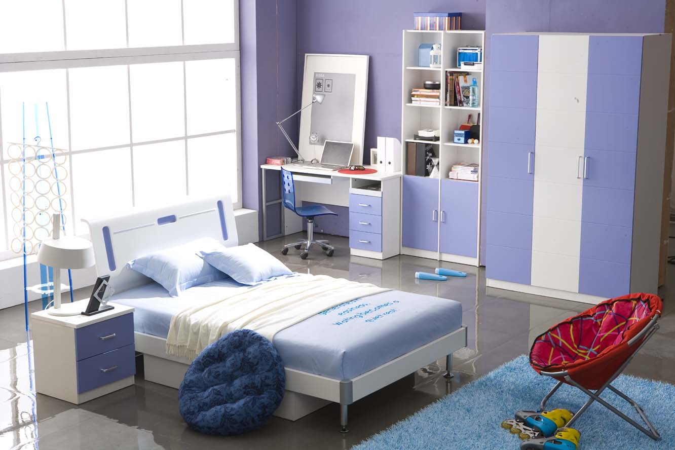 Blue bedrooms for kids wonderful for Blue teenage bedroom ideas