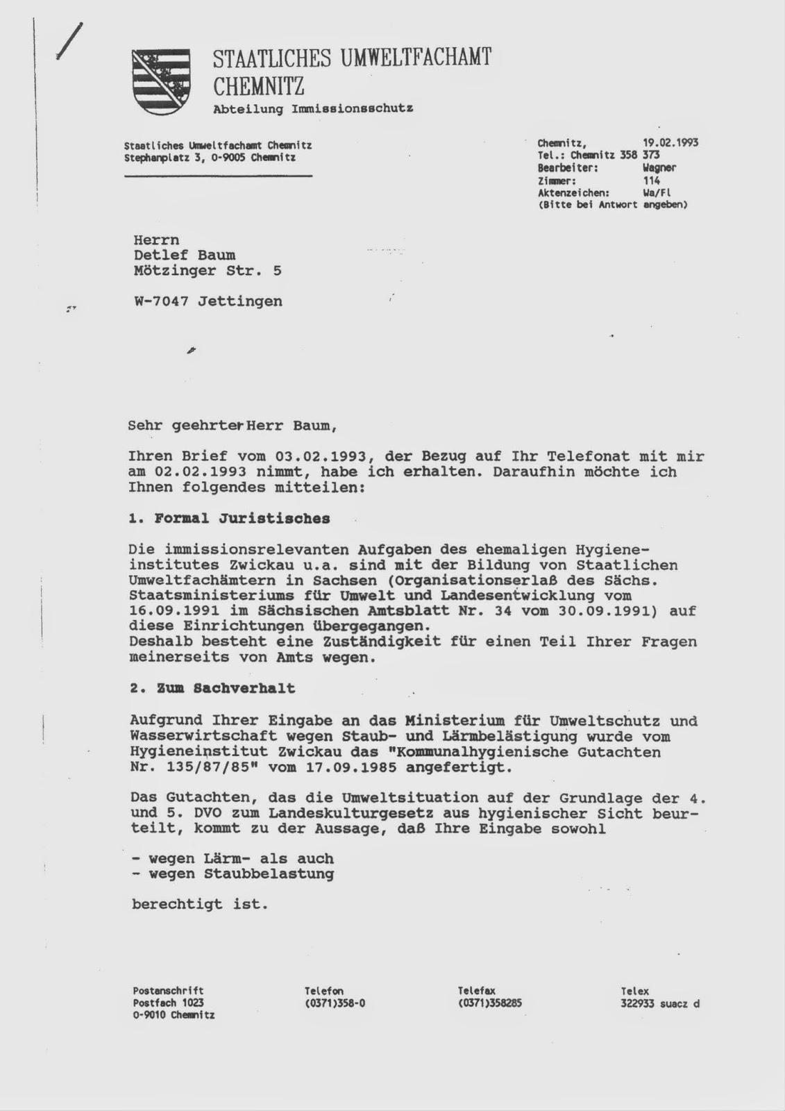 verraten und verkauft, wie das Verwaltungsgericht Chemnitz meine ...