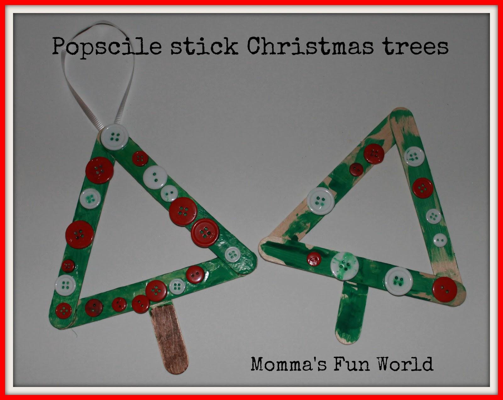 Momma 39 s fun world 15 fun and easy christmas ornaments for Easy to make christmas tree ornaments