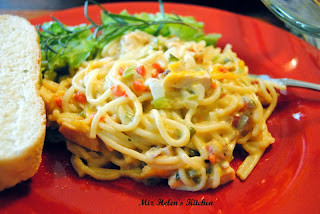 Chicken Spaghetti   from Miz Helen's Country Cottage