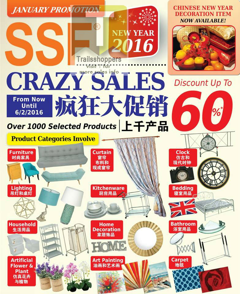 SSF Crazy SALE Malaysia Home Decoration Furniture