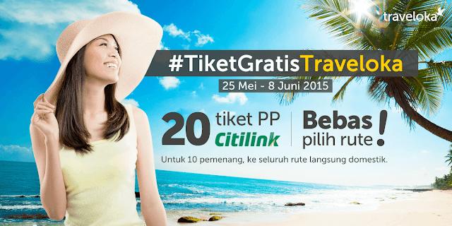 Kontes Menulis Blog Berhadiah Tiket Pesawat Gratis Citilink (PP) Dari Traveloka