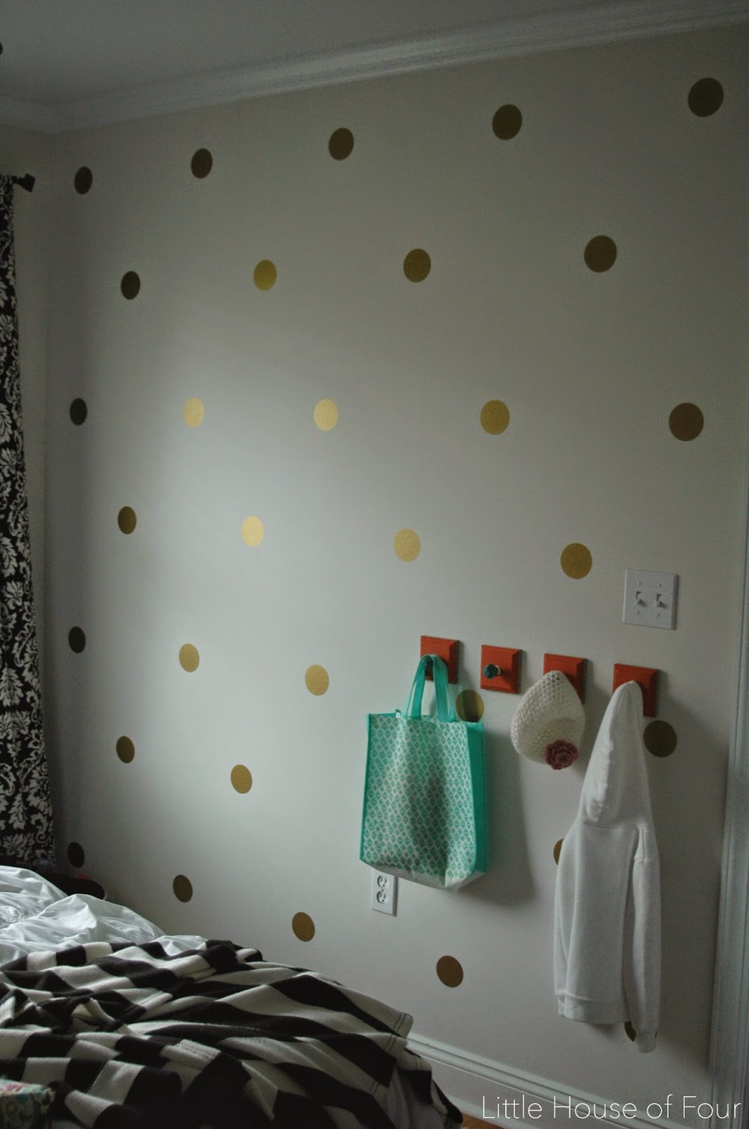 Gold dot wall stickers gallery home wall decoration ideas hello polka dots little house of four creating a beautiful hello polka dots amipublicfo gallery amipublicfo Images