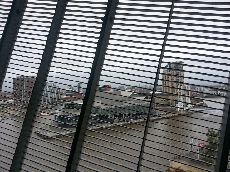 Manchester photo from inside the Air Shard Imperial War Museum