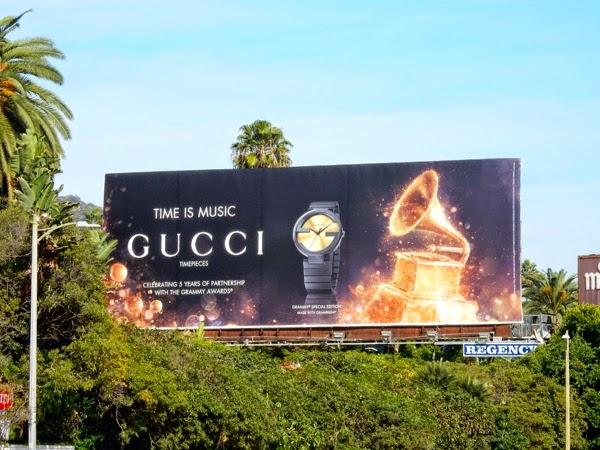 Gucci Timepieces Grammys 2015 billboard