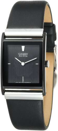 Citizen Men's BL6005-01E Eco-Drive Black Ion-Plated Leather Strap Watch