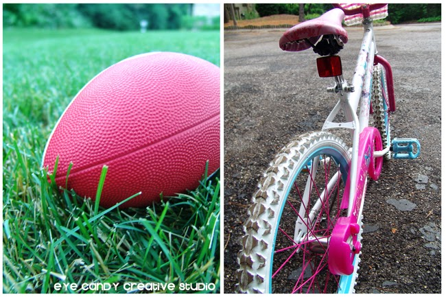 family activities to stay fit, football, biking, walking the dog, frisbee