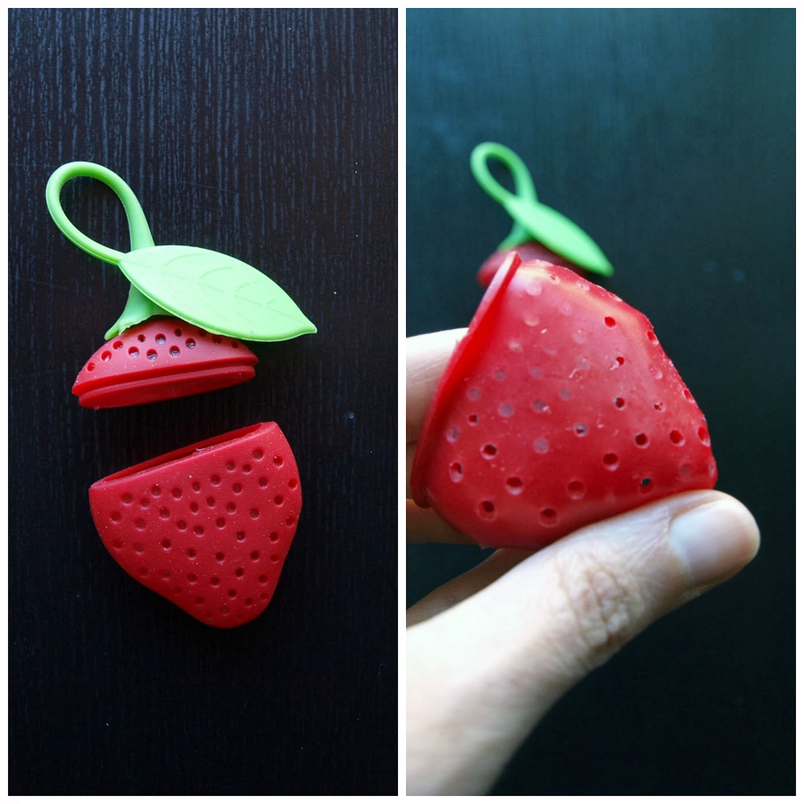 haul buyincoins fashion strawberry tea infuser