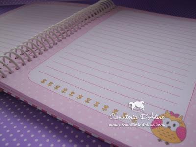 caderno recados bebe personalizado