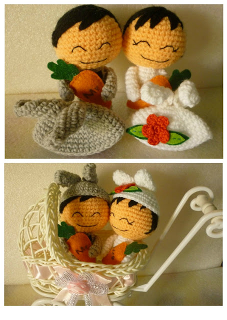 Crochet cute couple doll amigurumi kawaii wedding pattern gift