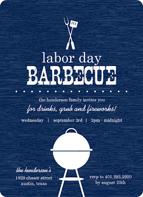 Barbecue is like a tradition of labor day holiday. Invite your friends to join in your BBQ party with sweet invitations.