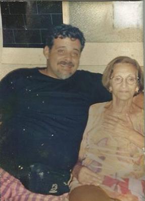 Minha Mãe e meu irmão Gustavo