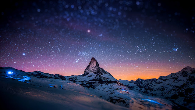 Switzerland mountain Matterhorn / tilt-shift photo