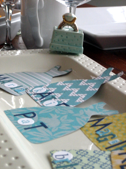 This elegant platter is perfect for displaying the bridesmaids place cards.