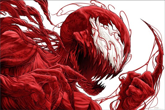 MondoCon 2014 Exclusive Marvel Comics x Mondo Screen Print Series Carnage by Randy Ortiz