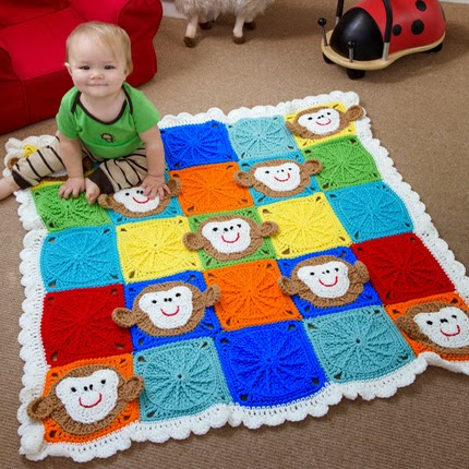 Monkey Around Baby Blanket - Free Pattern