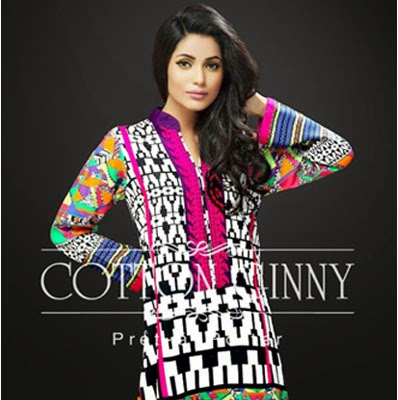 Cotton Ginny Winter Print Dresses 2015
